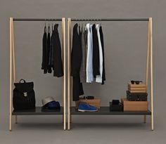 Toj is a clothing rack with an industrial and simple expression designed by Simon Legald for Normann Copenhagen