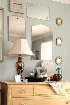 Mirrors Plus Belle, Dit, Childhood Memories, Sconces, Wall Lights, Decorating Ideas, Interiors, Dreams, Glass