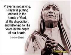 Interesting to think that St Teresa of Calcutta spent the last 30 years of her life with no sensible consolation of the Faith. Catholic Quotes, Catholic Prayers, Prayer Quotes, Spiritual Quotes, Quotes Quotes, Humour Quotes, Funny Quotes, Mother Theresa Quotes, Mother Child Quotes
