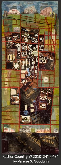 "Fiber Art Map of FAMU's Campus   ""Rattler Country"" by Valerie S. Goodwin"