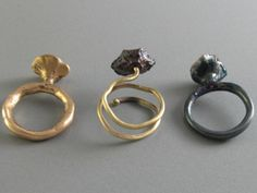 Sibel Akay - 'story of the forest' - rings - 925silver, bronze