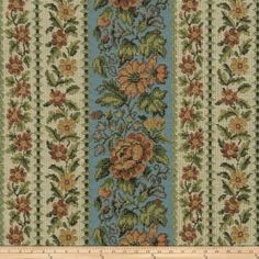 This lovely woven fabric is perfect for draperies, valances, and upholstery projects. Teal And Pink, Aqua, Living Room Upholstery, Tapestry Fabric, Mount Vernon, Floral Stripe, Fabric Design, Bohemian Rug, Quilts