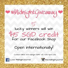 -GIVEAWAY- . Wanna win some goodies? Simply repost this pic follow and tag @the.midnight.journal hashtag #midnight giveaway and say why you want to win this in your caption! . Tagging friends in this post gives you Xtra chances!  . Contest is open INTERNATIONALLY and it ends on 30 April 11:59pm GMT8. Winners will be picked and announced on 1st May! . 2 Instagram winners/3 Facebook winners (join both for more chances!!) . . #contest #giveaway #planner #plannerph #plannersg #planneruk…