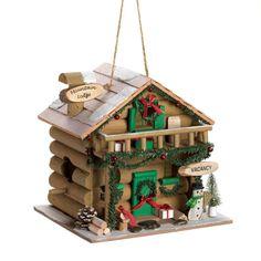 Holiday Mountain Lodge Birdhouse