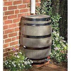 Wine barrel rain catcher