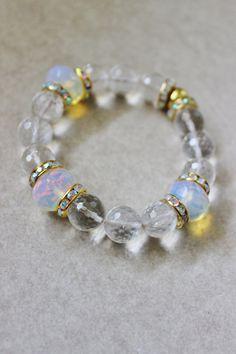 Clear bangle stacking bracelet crystal by StarsonMarsJewelryCo