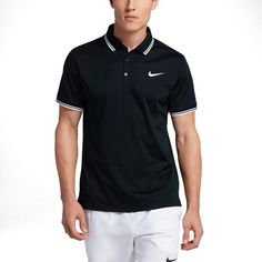 You'll rule the courts with this men's Nike tennis polo. Tennis Rules, Tennis Tips, Nike Tennis, How To Play Tennis, Tennis Pictures, Polo Outfit, Vintage Tennis, Tennis Elbow, Black White Fashion