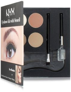NYX Cosmetics Eyebrow Kit With Stencil Set Blondes  07 Oz >>> Find out more about the great product at the image link.