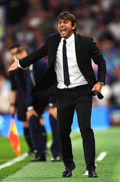 Antonio Conte Manager of Chelsea gives instructions during the Premier League… World Football, Sport Football, Antonio Conte, Chelsea Fc, Premier League, Management, Sports, Hs Sports, Sport