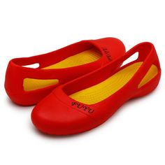 Ausland Women's Candy Flats 4.5 B(M) UK Red: Amazon.co.uk: Shoes & Bags