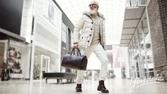 """Dapper """"Fashion Santa"""" Models Stylish Winter Clothing While Snapping Selfies for Charity - My Modern Met"""