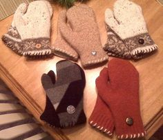 Recycled Sweater Mittens How-To