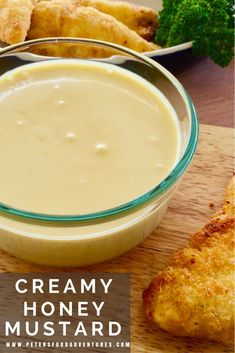 I could drink this stuff! A delicious homemade Creamy Honey Mustard Sauce Recipe with mayo, honey, mustard, sour cream, with a pinch of onion and garlic powder! How to Make Honey Mustard Sauce Recipe Honey Mustard Dip, Honey Mustard Recipes, Honey Mustard Dressing, Honey Recipes, Creamy Mustard Sauce, Outback Honey Mustard Recipe, Mustard Sauce For Chicken, Dipping Sauces For Chicken, Sweets