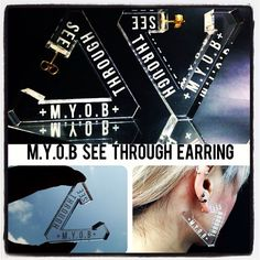 M.Y.O.B @myobofficial +SEE THROUGH+ series will be back in stock soooooon :)) SHOP M.Y.O.B : http://myob.ocnk.net/ Contact us : m.y.o.b.-shop@live.jp #myob #myobnyc #seethrough #earring