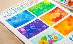 8 TÉCNICAS EN ACUARELA http://www.upsocl.com/creatividad/si-eres-un-principiante-con-las-acuarelas-estas-8-tecnicas-te-convertiran-en-un-gran-artista/