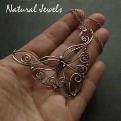 Wire wrapped butterfly pendant in copper by azibrn