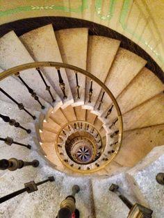 Spiral staircase at Vizcaya