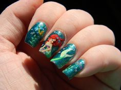 Toxic Vanity: Ariel nail art!! OMFG this girl is so talented it's unreal. Check out her other Disney inspired manicures!!