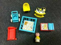 fisher price little people baby & nursery set.  Some of my childhood toys =)