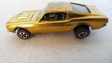 VINTAGE HOT WHEELS REDLINE 1968 Custom Mustang GOLD USA TOY CAR USA