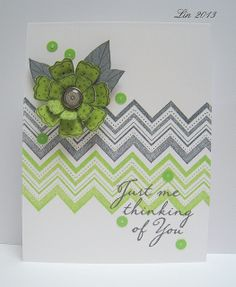 Lime and grey by quilterlin, via Flickr