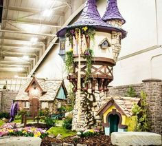 A charmed life: Dad lives the dream building luxury playhouses for kids Your inner child just exploded. Outside Playhouse, Backyard Playhouse, Build A Playhouse, Wooden Playhouse, Playhouse Ideas, Playhouse Interior, Luxury Playhouses, Outdoor Living, Outdoor Decor