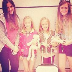 Such pretty girls! I wish I could get a chance to meet all of you!! Congrats on 2 New brothers! I love little kids:) hope u all have a lovely day! -Claire