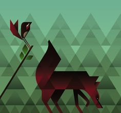 Geometric Animals by Rea Christ, via Behance