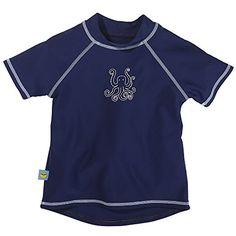 1 Boys Graphic Swim Shirt Swimming Tee Shirt Joe Boxer UPF 50 UV Protection NEW