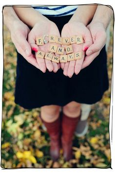 Cute idea for engagement pictures or even wedding pics! Engagement Photo Poses, Engagement Couple, Engagement Pictures, Engagement Shoots, Engagement Photography, Engagement Ideas, Country Engagement, Fall Engagement, Perfect Wedding