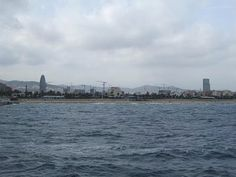 Barcelona from the Mediterranean Sea