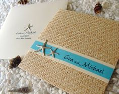 Love the texture for this beach themed invite (invitation designed by Par Avion Design)