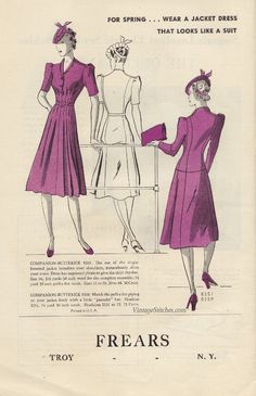 Butterick Fashion News May 1939 | VintageStitches.com