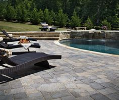 Just like peanut butter and jelly, hot weather and a Belgard pool deck were meant to be.