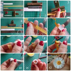 Fringed Daisy Tutorial by Quilling Owl