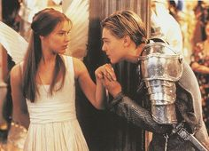 Romeo + Juliet is a 1996 American-Australian film adaptation of William Shakespeare's Romeo and Juliet. It was directed by Baz Luhrmann and stars Leonardo DiCaprio and Claire Danes in the leading roles. Leonardo Dicaprio Romeo, Claire Danes, E Claire, Teen Movies, Good Movies, Awesome Movies, Greatest Movies, Drama Movies, Best Love Stories