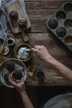 dairy + gluten free: salted chocolate lavender cupcakes & whipped honey coconut cream