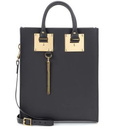 Mini Albion black leather tote