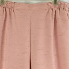 19.00$  Watch now - http://vilnh.justgood.pw/vig/item.php?t=dufglz649830 - Alfred Dunner Petite Pink Pants Elastic Waist Size 14 Front Pockets Easter