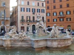#Neptune Fountain #Rome #PiazzaNavona #Art #Travel