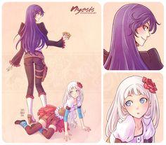 + Xiva and Eveline + by SaraFabrizi.deviantart.com on @deviantART ~  #drawing #manga #anime #nyesis #racers #webcomic