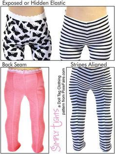 """Simply Tights 18"""" Doll Accessories"""