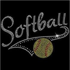Softball Rhinestone T-Shirt by ParkwoodDesigns on Etsy https://www.etsy.com/listing/267614234/softball-rhinestone-t-shirt