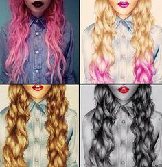 4 hair drawing