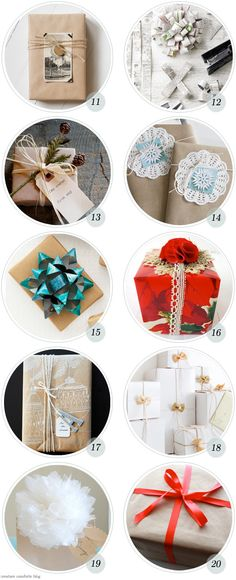 Holiday Roundup: 10 - 20 Great Gift Wrapping Ideas - Home - Creature Comforts - daily inspiration, style, diy projects + freebies
