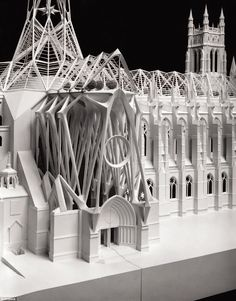 Spanish architect Santiago Calatrava won a competition calling for a designs connecting ecology and spirituality at the Cathedral Of Saint John The Divine. His plan (pictured) included greenhouse-like structures and an arboretum Plans Architecture, Landscape Architecture Drawing, Chinese Architecture, Modern Architecture House, Gothic Architecture, Futuristic Architecture, Ancient Architecture, Sustainable Architecture, Modern Houses