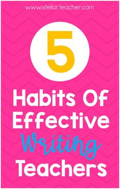 Teaching writing can be hard. It can be challenging to get students to engage in meaningful writing every day. But, as a teacher, if you embrace these five habits, you will increase the effectiveness of your writing block! Go checkout this blog post where I share the 5 habits of effective writing teachers.  Sign up and I'll email you a 8 page teacher guide to help you using MY effective habits to become a great writing teacher. Teaching Writing, Teaching Tips, Write Every Day, How To Become, How To Get, You Used Me, Writing Workshop, Upper Elementary, Vocabulary