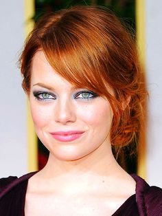 I want her hair color - love her makeup too!
