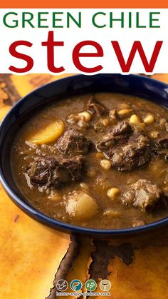 When you make a recipe with only a few ingredients, technique becomes more important. Such is the case with green chile stew. Green chile stew is a New Mexico favorite, but you will see it all over the Desert Southwest, and there are versions of it across the border in Mexico, too. | @huntgathercook #hankshaw #venisonrecipes #deerhunting #venisonstew #mexicanstew #deerhunting Green Chile Stew, Mexican Stew, Venison Stew, Homemade Flour Tortillas, Venison Recipes, Cheat Meal, Wonderful Recipe, Food To Make, Breakfast Recipes