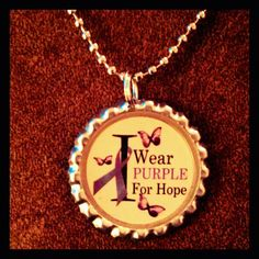 I Wear Purple for Hope Butterfly Lupus Cancer by DeanasDezigns, $9.95